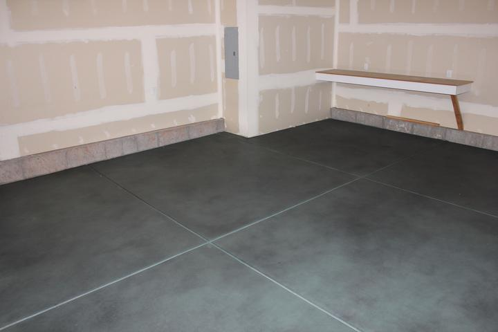 Faux projects newlook international for How to clean stained concrete garage floors