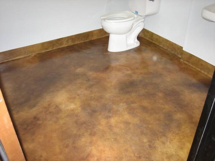 Semi transparent concrete stain looks like acid stain - Interior concrete floor stain colors ...