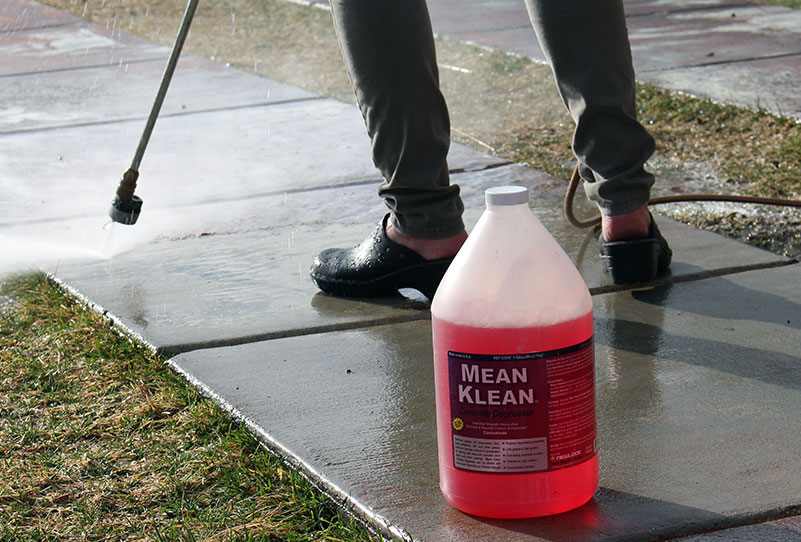 Mean klean concrete degreaser cleaner for Best degreaser for concrete